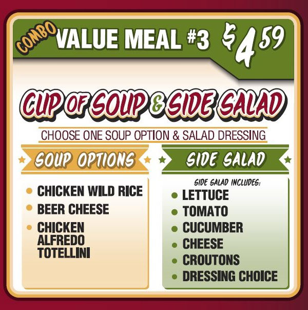 Combo Value Meal 3 - cup of soup and side salad